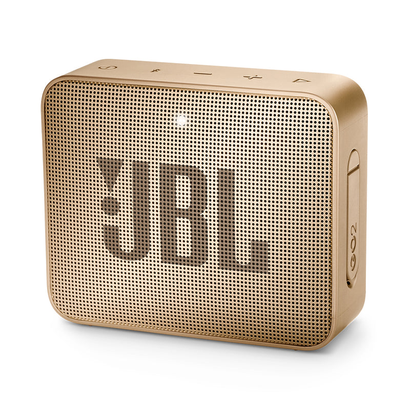 Bocina inalámbrica JBL GO 2, IPX7, Bluetooth, color champaña