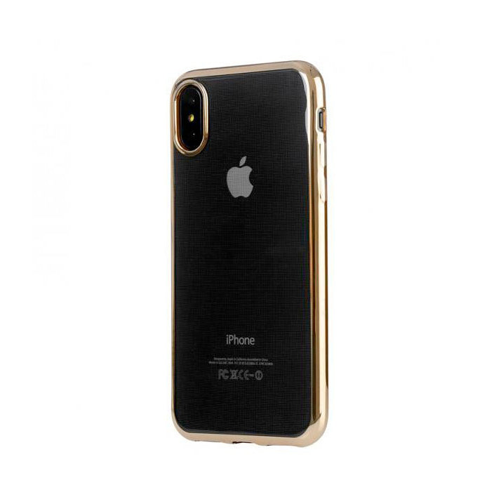 Estuche para iPhone X Tucano Elektro Flex, gold - Multimax