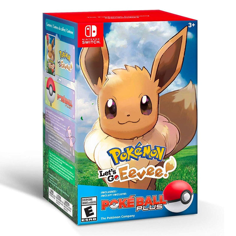Pokémon Let's Go Eevee + Poke Ball Plus Bundle - Juego para Nintendo Switch