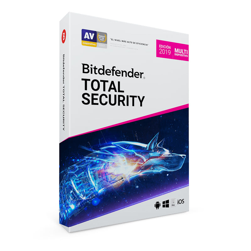 Licencia Antivirus BitDefender Total Security, 3 Multi-Device