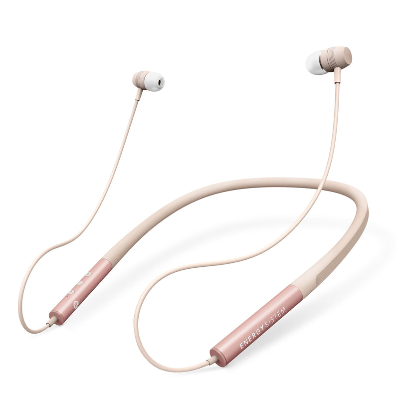 Audífono inalámbrico Energy Sistem Neckband 3, Bluetooth, rose gold