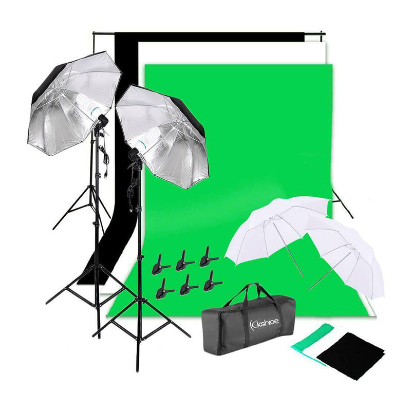 Kit de Fotografia Studio 2, Backdrop, Luces, Paraguas
