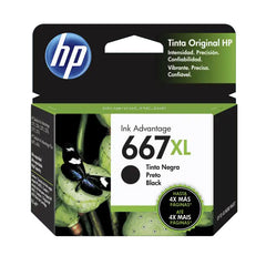 Tinta HP 667XL, negra