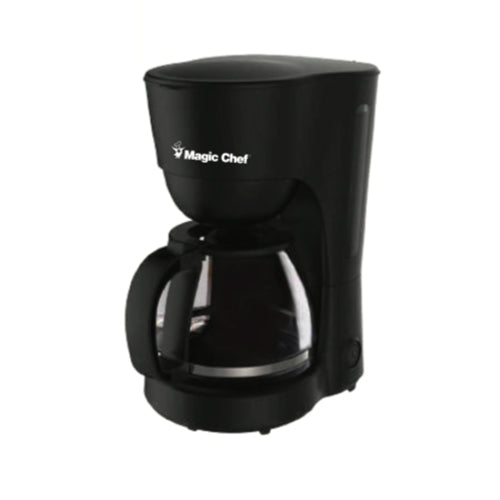 Cafetera Magic Chef, 10 tazas, 1.25 litros, tanque traslúcido, resistente al calor, negro - Multimax