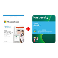 Kit Licencia Microsoft Office 365 Personal + Antivirus Kaspersky Total Security