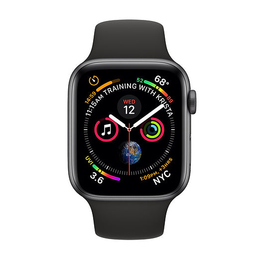 Apple Watch S4, 40mm, GPS, gris (Refurbished)