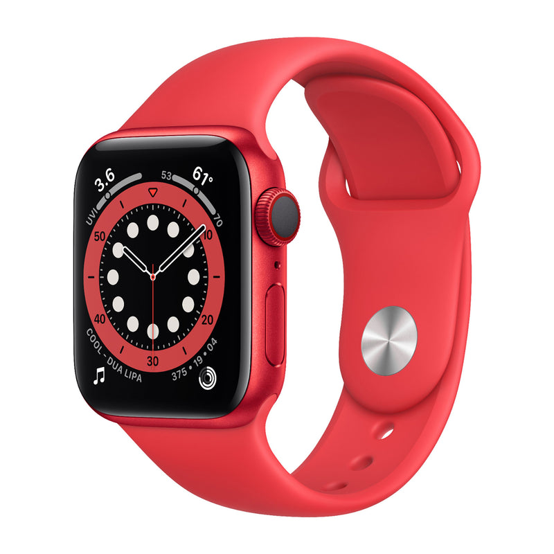 Apple Watch S6, 44mm, GPS, nivel de oxígeno en la sangre, frecuencia cardiaca, rojo