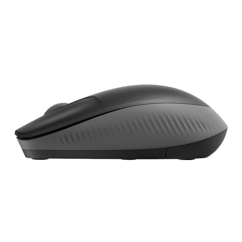 Mouse inalámbrico Logitech M190, hasta 18 meses de uso, plug and play, charcoal