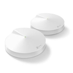 Router smart inalámbrico Home WiFi System TP Link Deco M9, paquete de 2, hasta 4500 pies cúbicos, 2200 Mbps, conecta hasta 100 dispositivos, HomeCare - Multimax