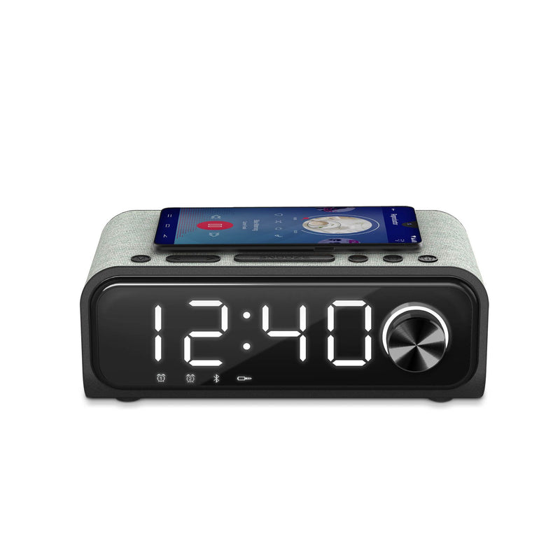 Reloj despertador Energy Sistem Clock Speaker 4, cargador inalámbrico, Radio FM, bluetooth