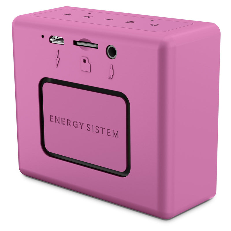 Bocina inalámbrica Energy Sistem Music Box1+, puerto microSD, radio FM, bluetooth, grape