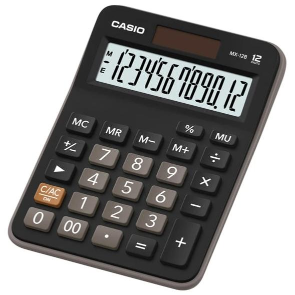 Calculadora Casio MX-12B-BK, color negro
