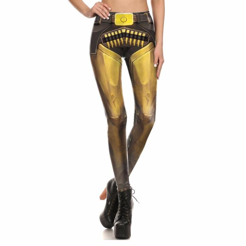 Yellow Metalic Leggings