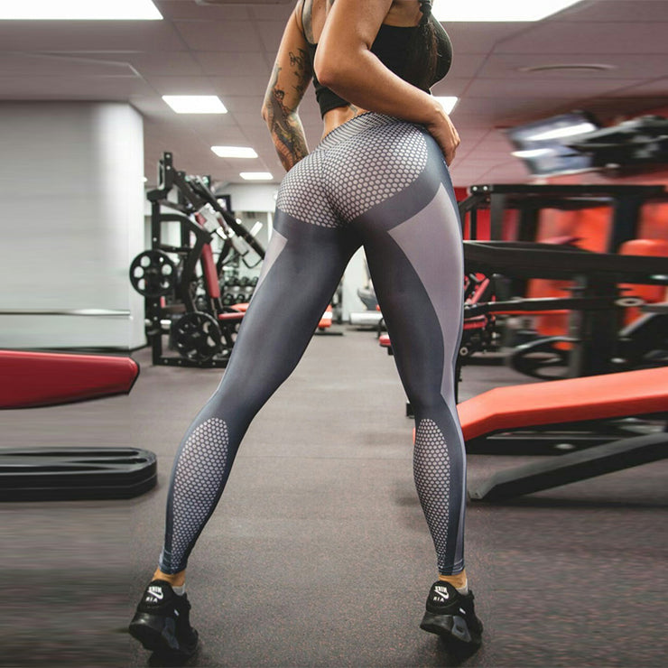 Gray High Waist Leggings
