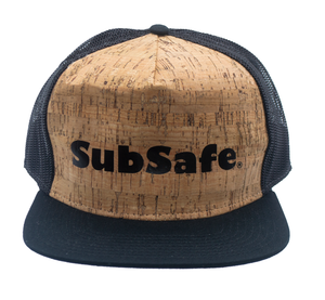 SubSafe Cork Trucker Hat - cork Design with logo
