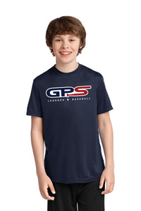 Navy Youth Short Sleeve Dry-Fit