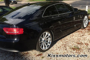 Audi A5 with 19x9.5 Rohana RC10 Silver wheels by Kixx Motorsports https://www.kixxmotorsports.com