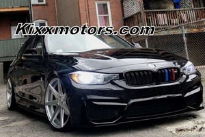 "20"" Rohana RC7 Silver Concave Staggered Wheels Rims on BMW 3 Series by KIXX Motorsports http://kixxmotorsports.com"