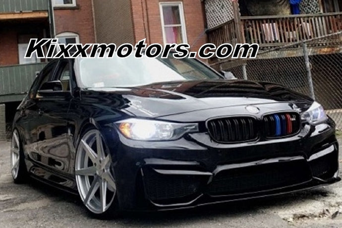 2013 BMW 320 Rohana RC7 20x9 20x10 Silver Wheels