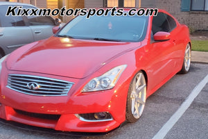 "Infiniti G37 with 20"" Rohana RC7 Silver concave staggered wheels 20x9 20x10 wheels rims. By Authorized Dealer Kixx Motorsports."