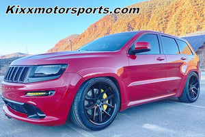 Jeep Grand Cherokee SRT8 with 22x10.5 Ferrada FR2 Black Concave Wheels Rims by Kixx Motorsports https://www.kixxmotorsports.com 949-610-6491.
