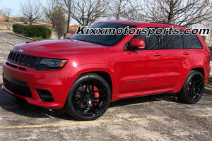 "22"" Black Concave Wheels on Jeep Grand Cherokee SRT https://www.kixxmotorsports.com/products/22x10-5-rohana-rfx11-gloss-black-wheels-rotary-forged"
