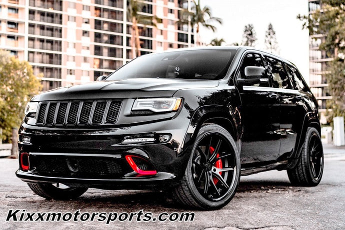 "Jeep Grand Cherokee with 22"" Black Concave Wheels"