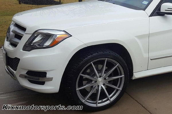 Mercedes Benz GL350 with 20x9 20x10 Rohana RF1 Forged Titanium Concave Wheels Rims by Kixx Motorsports https://www.kixxmotorsports.com