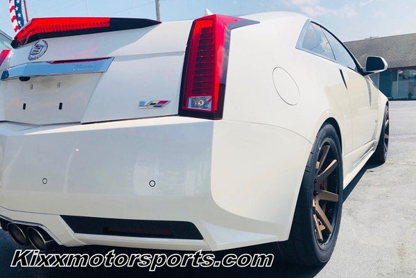 Cadillac CTS-V Coupe with 20x9 20x10.5 Ferrada FR1 Bronze w/ Black Lip Concave Wheels Rims by Kixx Motorsports https://www.kixxmotorsports.com