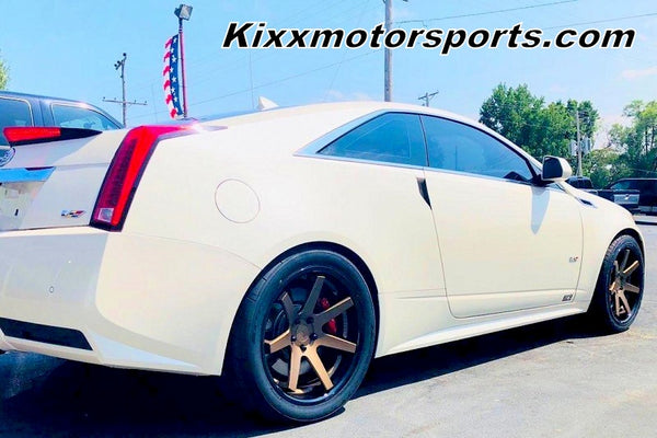 Cadillac CTS-V Coupe with 20x9 20x10.5 Ferrada FR1 Bronze with Black Lip Concave Wheels by Kixx Motorsports https://www.kixxmotorsports.com