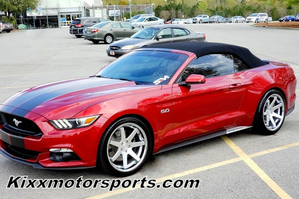 "Ford Mustang with 20"" Ferrada FR1 Silver Concave Staggered Wheels Rims by Kixx Motorsports 949-610-6491"