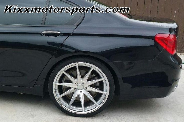 "BMW 7 Series with 22"" Staggered Rohana RC10 Silver concave wheels rims by Kixx Motorsports. https://www.kixxmotorsports.com"