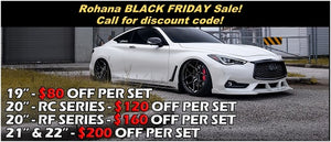 Black Friday Sale on Rohana Concave Wheels Rims by Kixx Motorsports https://www.kixxmotorsports.com