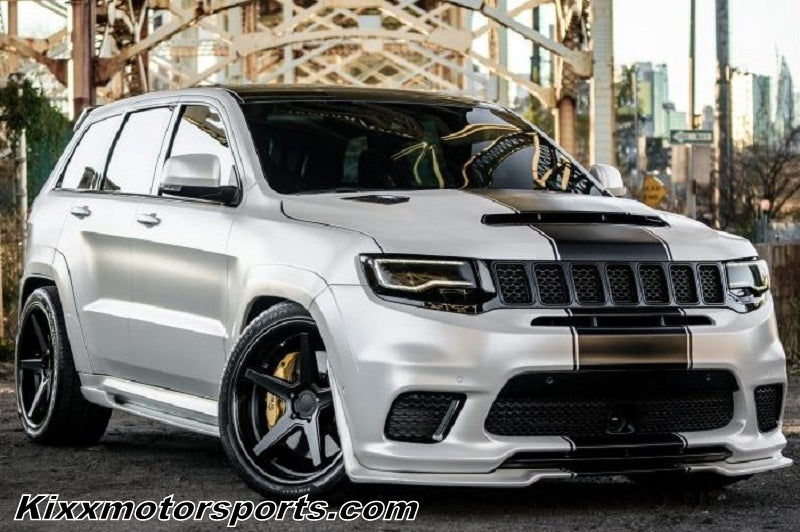 "Jeep Grand Cherokee with 22"" Ferrada FR3 Black Concave Wheels By Kixx Motorsports https://www.kixxmotorsports.com/products/22x10-5-ferrada-fr3-matte-black-w-gloss-black-lip-wheel"