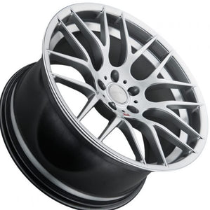 BMW Silver concave wheels by https://www.kixxmotorsports.com