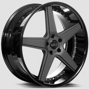 "22"" Azad AZ008 Black concave wheels staggered rims by Kixx Motorsports https://www.kixxmotorsports.com 1"