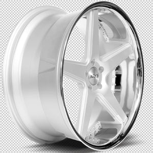 "20"" Azad AZ008 silver / chrome lip wheels staggered rims by Kixx Motorsports https://www.kixxmotorsports.com 7"