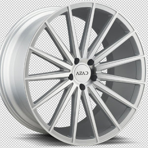 22x10.5 Azad AZ48 Silver Machined concave wheels rims by Kixx Motorsports https://www.kixxmotorsports.com H