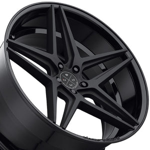 "20"" Blaque Diamond BD8 Concave Wheels Rims by KIXX Motorsports https://www.kixxmotorsports.com/products/20-full-staggered-set-blaque-diamond-bd-8-20x9-20x10-5-two-tone-black-wheels"