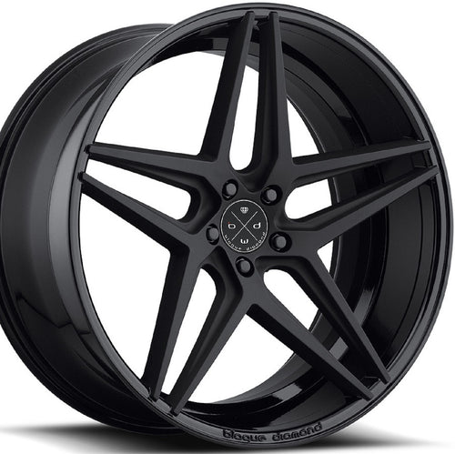 22x9 Blaque Diamond BD-8 Two Tone Black Wheel