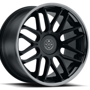 Blaque Diamond BD27 Black concave staggered wheels rims by Kixx Motorsports https://www.kixxmotorsports.com 4