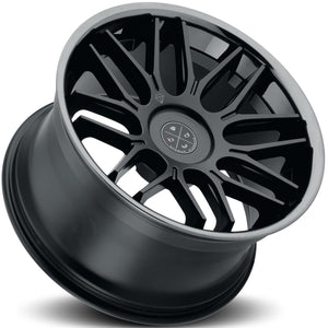 Blaque Diamond BD-27 Black concave staggered wheels rims by Kixx Motorsports https://www.kixxmotorsports.com 5