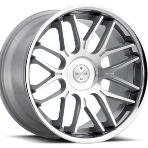 "22"" Blaque Diamond BD27 Silver w/chrome lip concave wheels rims by Kixx Motorsports https://www.kixxmotorsports.com 1"