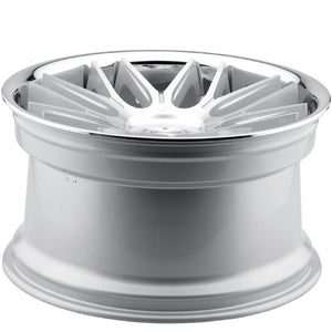 "22"" Blaque Diamond BD27 Silver w/chrome lip concave wheels rims by Kixx Motorsports https://www.kixxmotorsports.com 3"