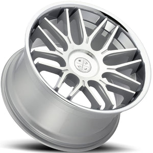 "20"" Blaque Diamond BD27 Silver concave wheels rims by Kixx Motorsports https://www.kixxmotorsports.com 1"