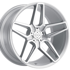 "20"" Blaque Diamond BD-17-5 Machine Silver concave staggered wheels by Kixx Motorsports https://www.kixxmotorsports.com 4"