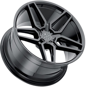 "20"" Blaque Diamond BD-17-5 Gloss Black concave wheels rims by Kixx Motorsports https://www.kixxmotorsports.com 3"