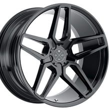 22: Blaque Diamond BD-17-5 Gloss Black concave staggered wheels rims by Kixx Motorsports https://www.kixxmotorsports.com 1