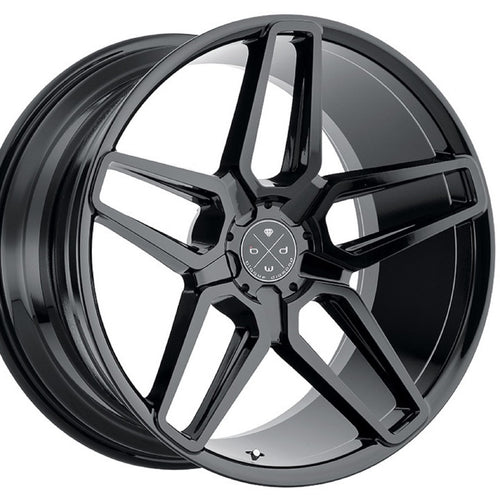 22x9 Blaque Diamond BD17 Gloss Black concave wheels rims by Kixx Motorsports https://www.kixxmotorsports.com 1