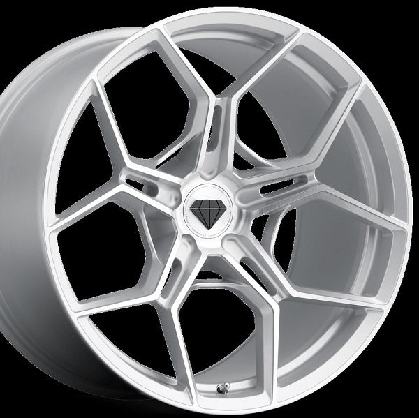 22 inch Blaque Diamond BD-F25 Forged Silver Concave Staggered Wheels Rims. By Kixx Motorsports www.kixxmotorsports.com